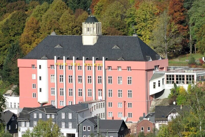 Haus des Volkes,Bauhaushotel,Probstzella,Bauhaus arts and architecture academy,travel destination Thuringia
