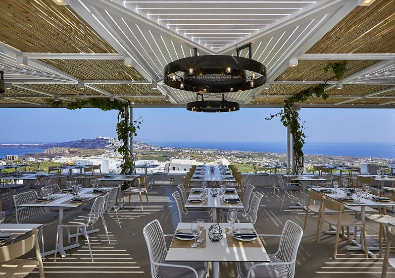 Photo Gallery Travel And Style Inspiration Pyrgos Restaurant Santorini Greece
