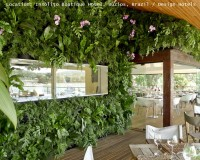 insolito boutique hotel buzios brazi,green wall plants outdoor,green white color palette,design hotels brazil,hotel restaurant design ideas,