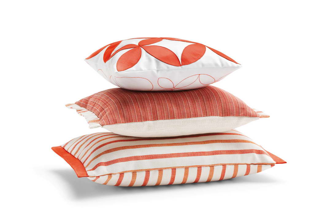 pillows,decorative pillows,cushions,decorative cushions,fabric,decorative fabric,design inspiration,design ideas,home style,home decor styles,decoration ideas,summer decorations,summer decorating ideas,trendy colors,orange color,white color,color,colorful,ego paris,
