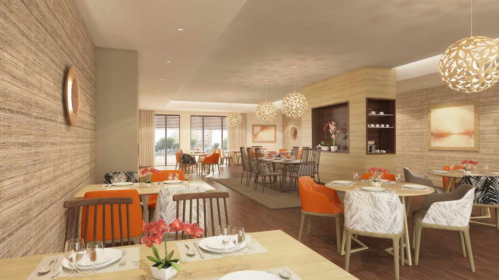bar and restaurant interior design ideas,sophie jacqmin architecte,orange chairs for restaurant,french restaurant design,different wood tones in the same room,