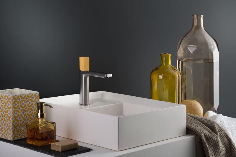 sahara yellow bath décor,yellow bathroom color ideas,yellow bathroom taps,sahara color palette bathroom ideas,yellow bathroom faucet,