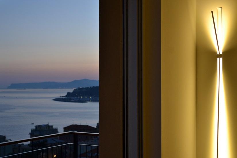 Balcony Design, Riviera Ligure di Ponente, Italy, Sunset, Sunset Sky, Light, Lamp, Lighting Design