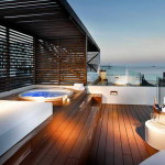 hard rock hotel ibiza,famous hotels in spain,romantic setting on hotel terrace,best romantic travel destinations,hotel terrace with hot tub,