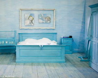 light blue rustic bedroom,blue and white rustic bedroom,interior designer bedroom decor,country style baby cribs,country style bedroom furniture,