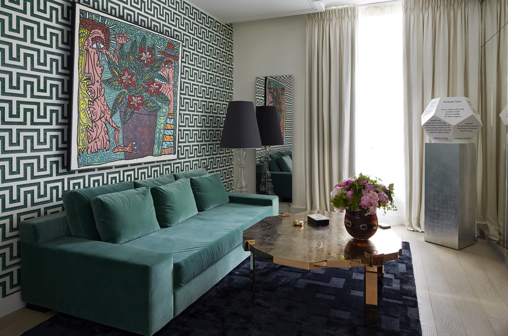 luxury green velvet sofa,high end lounge furniture,luxury coffee table,artistic living room ideas,designer living rooms,