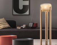 sata floor lamp vistosi,wood and blown glass light fixtures,wood floor lamp base,awarded floor lamp design,designer floor standing lamps,
