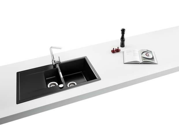 Black, Purist, Puro: Designer Sinks For Simple Elegance In The Kitchen.  SCHOCK Press