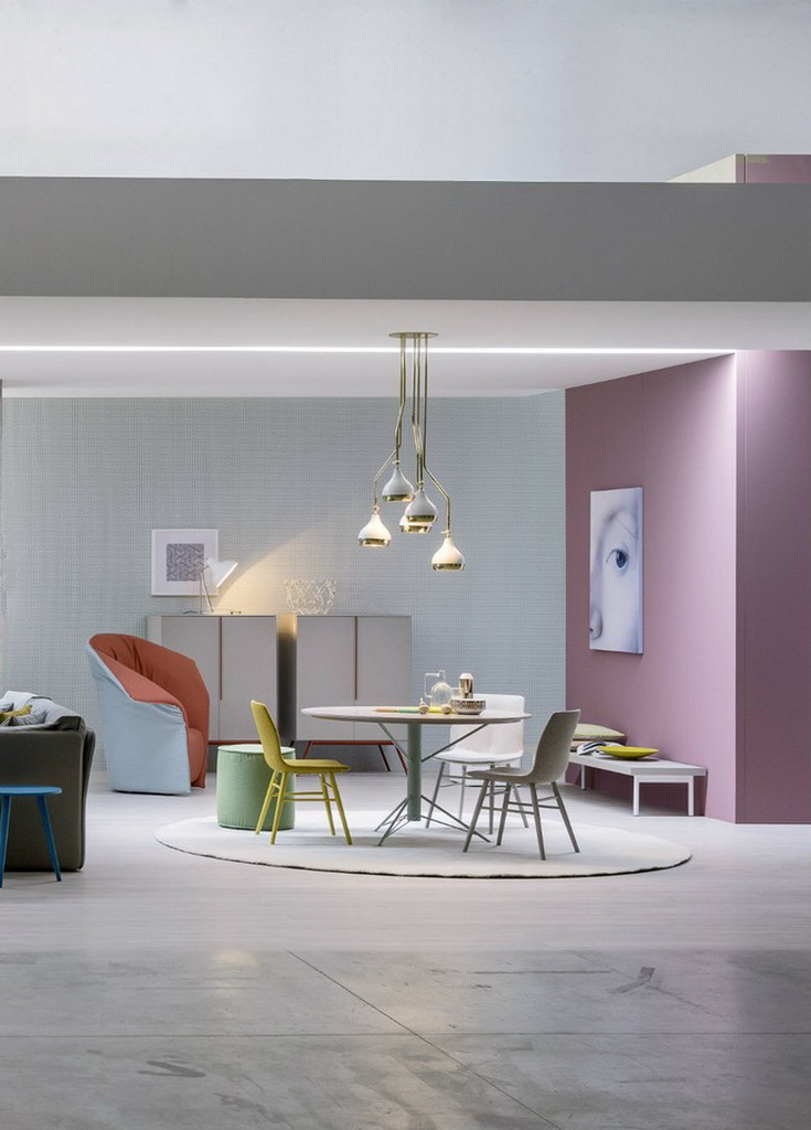 Modern dining room ideas furniture pastels design