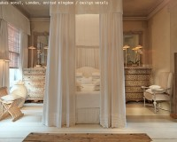 white canopy bed,luxury bedroom design,design hotels london,classic design interior,hotel room ideas,