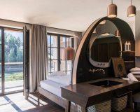 Seehof Hotel,wellness hotel design,hotel bathroom design ideas,washbasin in corian,bathroom mirror design,