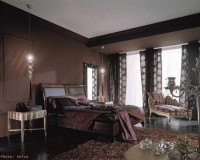 luxury brown and gold bedroom decorating ideas,brown walls in bedroom,luxury chaise lounge sofa,high quality wooden bed,high end bedroom furniture manufacturers,