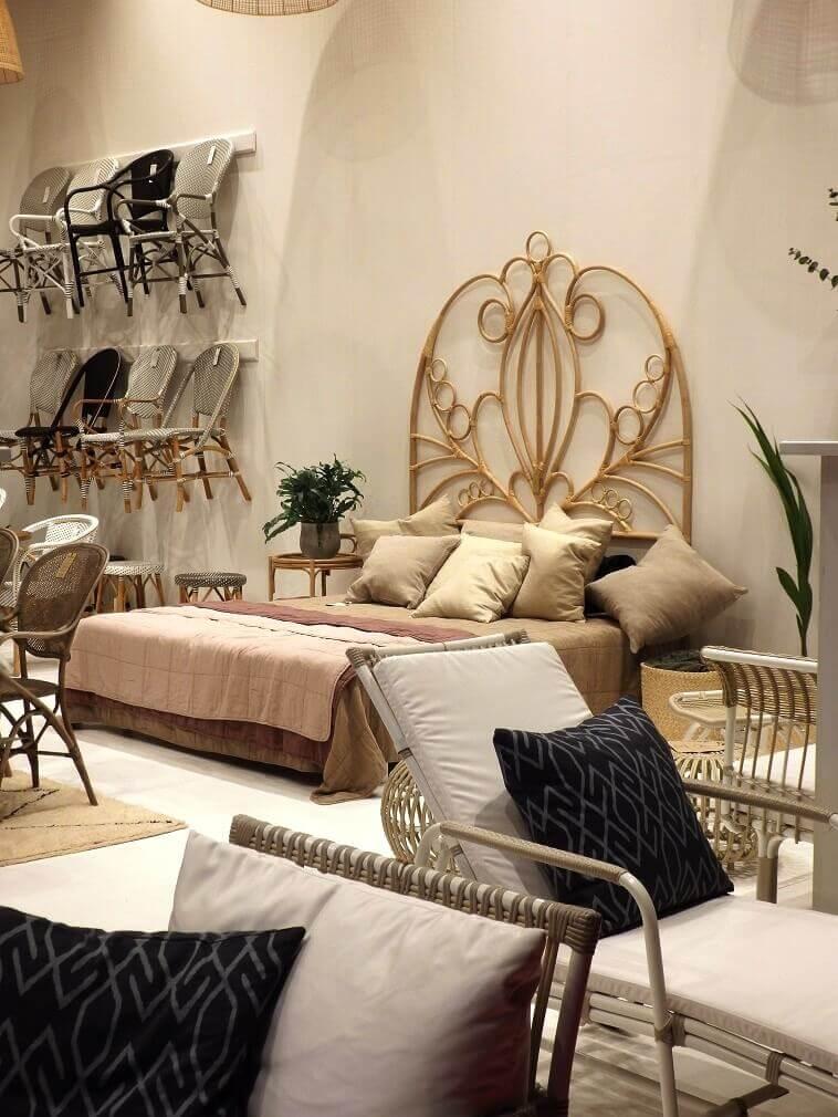 natural bedroom interior design,designer rattan garden furniture,salone del mobile milano trends,rattan double bed headboard,rattan outdoor furniture ideas,