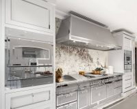 stainless steel and wood kitchen,high end italian kitchen cabinets,silver gray kitchen cabinets,winter kitchen decorating ideas,professional kitchen photos,