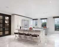 white kitchen tower unit,stainless steel and white kitchen island,kitchen with two islands,luxury white gray kitchen design,officine gullo cucine,