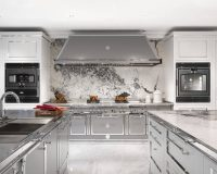 silver gray kitchen design,winter kitchen decorating colors,professional kitchen equipment,stainless steel and wood kitchen cabinets,high end italian kitchen,