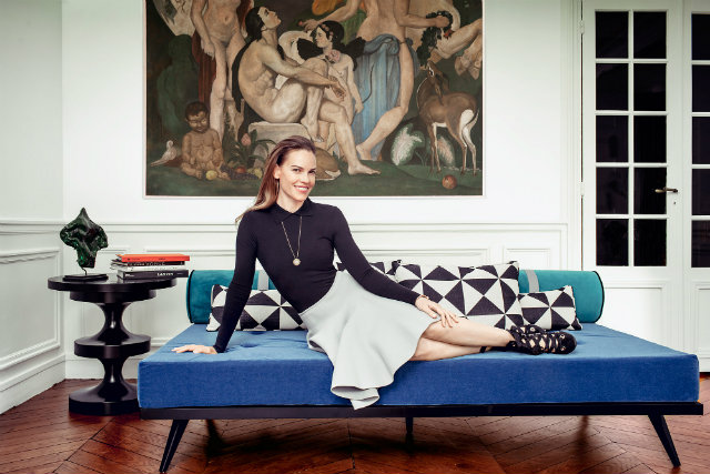 Hilary Swank, Hilary Swank's Apartment, Movie Star's Home, Celebrity Apartment, Celebrity Home, Apartment Design, Interior Design, Interior Decor, Living Room Design, Bedroom Design, Paris, Paris Style, France, Koket, Love Happens, Interior Design Brand, Furniture Brand, Luxury Brand, Luxury Home, Home Design, Home Decor