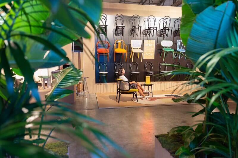 trees at supersalone milano,furniture design trade shows,milan design week 2021,