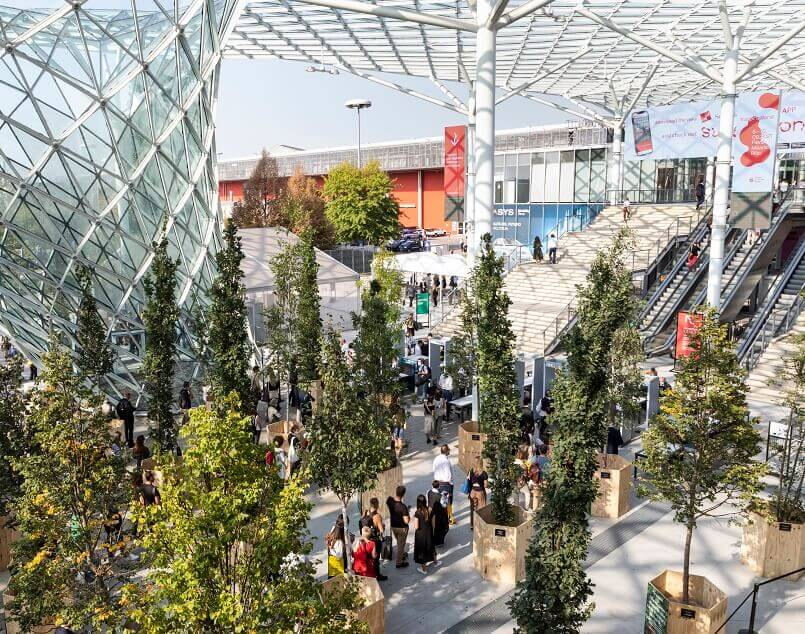 trees at supersalone milano,furniture design trade shows,milan design week 2021,super salone del mobile 2021,best interior design trade shows,