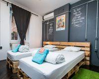 Swanky Mint Hostel, Hostel Design, Hostel, Hospitality Design, Hostel Accommodation, Accommodation, Travel Destinations, Travel Attractions, Zagreb, Croatia, Travel Inspiration, Hostels in Zagreb, Hostels in Croatia, Industrial Style, Industrial Design, Bedroom Designs, Reused Furniture