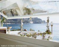 seaview,window,blue sea,blue sky,humbert & poyet architecture