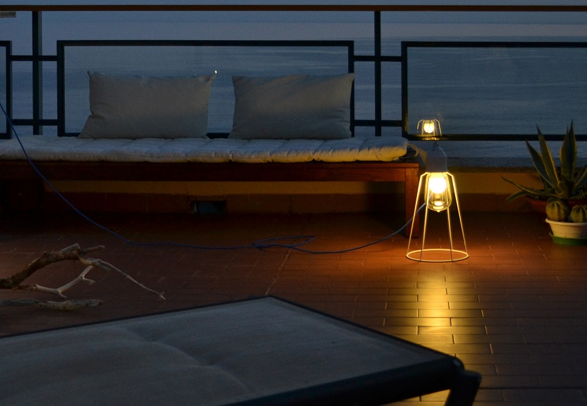 Terrace Design, Riviera Ligure di Ponente, Italy, Sunset, Sunset Sky, Light, Lamp, Lighting Design