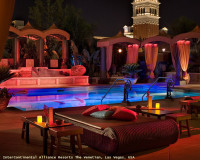romantic candle light atmosphere,romantic poolside ideas,