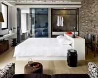 the waterhouse at south bund shanghai china,modern hotel room interior design,brick wall bedroom design ideas,designer bedroom hotel room,asian hotel room designs,