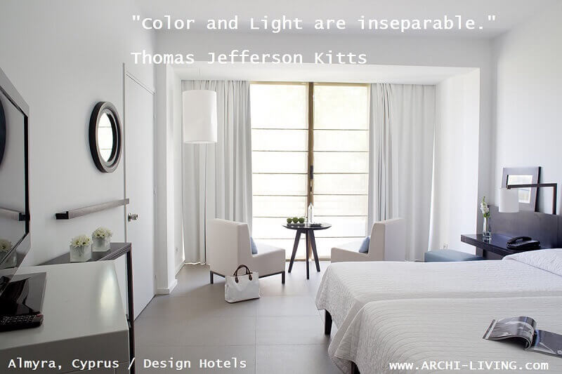 thomas jefferson kitts quotes,inspiring quotes about color and light,color photo quotes,white bedroom design inspiration,almyra design hotel paphos,