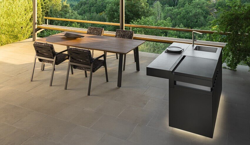 nicola de pellegrini architetto,talenti outdoor kitchens,outdoor kitchen and dining,garden kitchen design ideas,outdoor dining table and chairs,