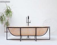 tal engel otaku,wooden bathtub design,asian inspired furniture,wood and steel bathtubs,wood bathroom design ideas,