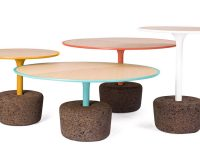 flora dam,flora coffee tables,coffee table inspired by plants,furniture inspired by nature,cork and wood furniture,