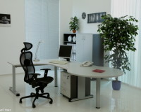 large metal and wood office desk,high end office furniture brands,how to design a manager office,modern office design images,black chair in office,