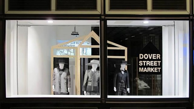 london shop window displays,high end fashion stores london,white black and gray retail store designs,dover street market shop london,best shopping travel destinations,