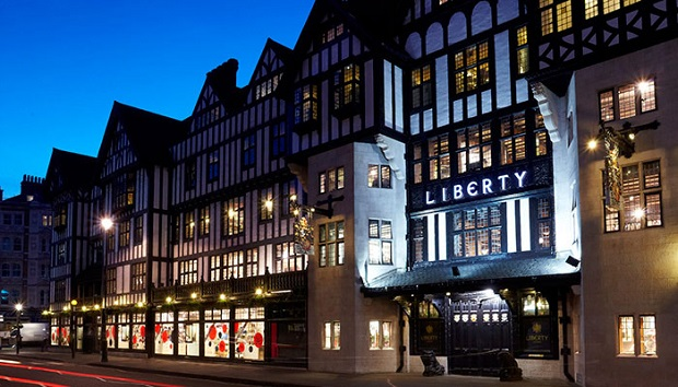 liberty store london images,london shop window displays,where to shop in london england,retail architecture design,traditional shops in london,
