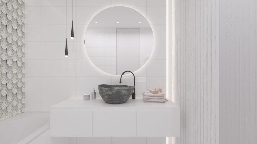 white bathroom,grey bathroom,bathroom in neutral tones,minimalist bathroom,modern bathroom,bathroom,bathroom decor,bathroom ideas,luxury bathrooms,luxury bathroom designs,designer bathroom,bathroom furniture,bathroom sink,bathroom vanities,bathroom storage units,bathroom interior,washbasin,bathroom showers,shower,spa design,spa design ideas,modern spa design ideas,modern spa design,luxury spa,luxury spa design,design spa,spa designers,spa decor,spa decor ideas,wellness,wellness design,hotel spa,hotel spa design,hotel spa wellness,hotels bath,Interior Design, Interior Design Project, Apartment Design, Minimalist Apartment, Ethno Style, Neutral Color Scheme, Yakusha Design Studio, Victoria Yakusha, Ukrainian Designer, Ukrainian Furniture Brand, Ethno Collection, Faina, Kyiv, Ukraine, Living Room Design, Bedroom Design, Kids Room Design, Bathroom Design, Kitchen Design, Dining Room Design, Furniture Design, Ethno Furniture