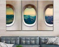 aviation decor ideas,wall decor travel theme,sky travel wall decor theme,the view from the airplane window decor wall,contemporary wall decor for living room,