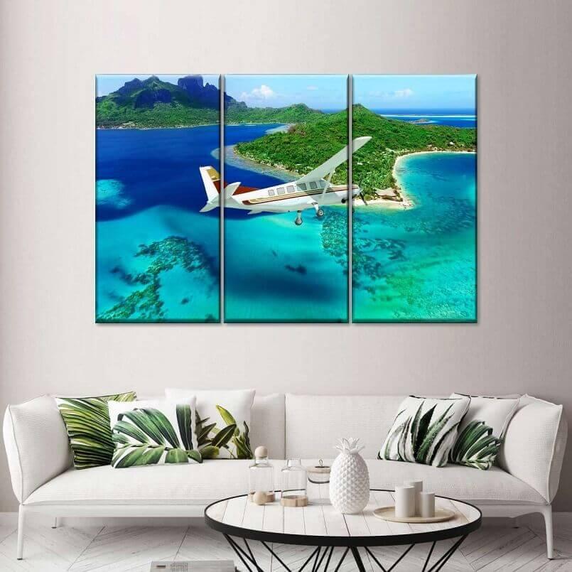 airplane theme wall art,flying inspired home decor ideas,aviation wall art panels,wall art travel theme,sky travel wall decorations,