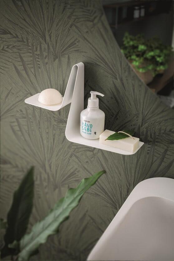 designer soap dish,bathroom plant decor ideas,green and white bathroom decor,