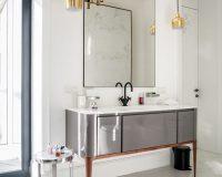 mid-century design lamps,trendy bathroom design,grey bathroom furniture,,interior design project,ukrainian interior design,