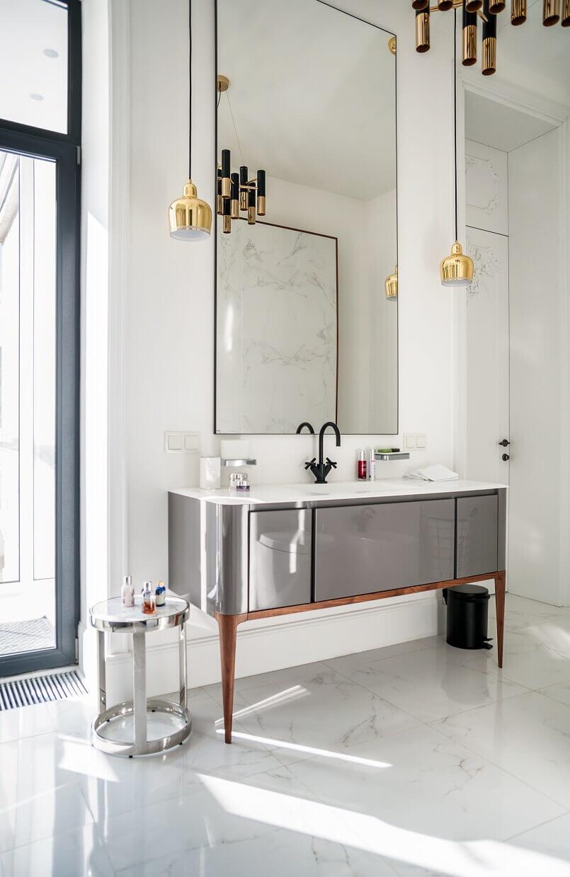 designer bathroom ideas,trendy bathroom mirrors,mid-century design lamps,contemporary interiors,interior designer kiev,