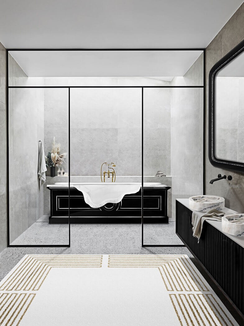 bathtub designers inspired by architecture,bathrooms inspired by ancient architecture,natural stone bathroom designs,luxury marble bathtub,white marble bathtub,