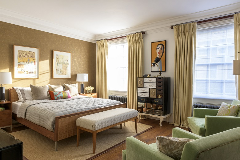 design project eclectic and artistic london townhouse designed by maurizio pellizzoni - Townhouse Bedroom Design