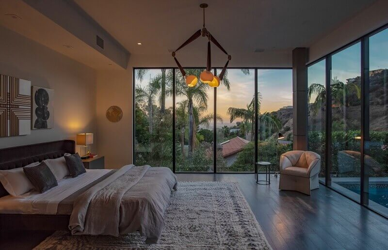 romantic bedroom lighting ideas,romantic master bedroom lighting,lighting in bedroom interior design,bedroom lighting design,bedroom with large windows,