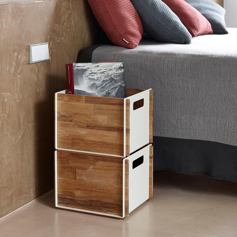 bedside furniture ideas,creative bedroom storage,bedside storage boxes,decorative boxes for bedroom,organize bedroom storage,
