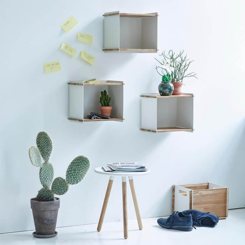 small entrance lobby ideas,storage ideas for small spaces,wall shelves boxes,bookshelves made of box in entrance design,organize your home with boxes,