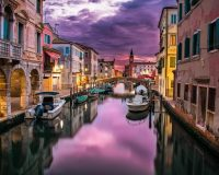 canal towns in italy,romantic photo in italian canal town,italian architecture design,colorful houses in italy,boats on the canal italy,