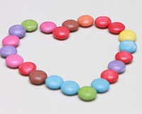 heart decoration ideas,colorful candy,