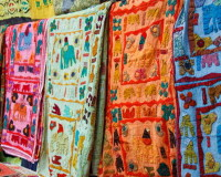 colorful fabric for curtains,ethnic style living room,creative home decoration ideas,