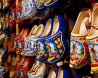 Wooden Clogs, Holland, Blue Color, Yellow Color, White Color, Red Color, Travel Souvenirs, Souvenir